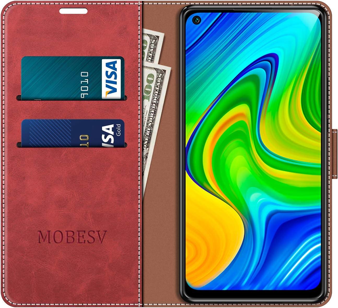 MOBESV Funda para Xiaomi Redmi Note 9 Funda Libro Xiaomi Redmi Note 9 Rojo Funda M/óvil Xiaomi Redmi Note 9 Magn/ético Carcasa para Xiaomi Redmi Note 9 Funda con Tapa