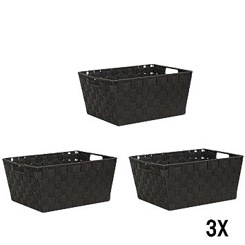 Wm Homebase 3er Set Aufbewahrungskorbe Aufbewahrungsbox Mit Griffe