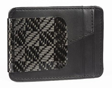 Amazon.com: D15 Negro cartera Rook Fibra de Carbono: Clothing