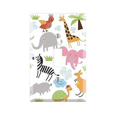 ANIMALS Wall Plate Cover, ANIMALS Switch Plate, ANIMALS Single Toggle, Single Rocker/GFCI, Duplex Outlet, Dual Toggle, Dual Rocker/GFCI, ANIMALS Decor, Kids Nursery Room Animals Art TF71: Handmade