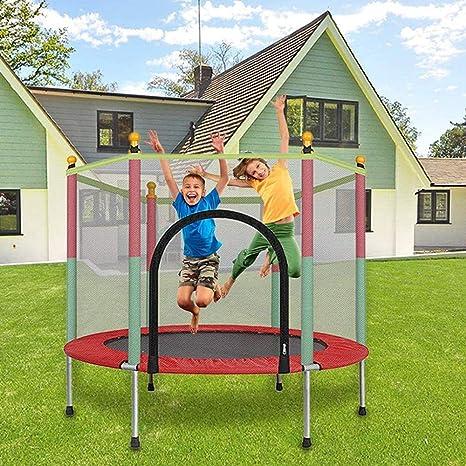 Trampolín Al Aire Libre, Cama Elástica para Niños Jardín Trampolín con Red De Seguridad Completa Peso Máximo 200 Kg Ideal para Niños Y Adultos: Amazon.es: Deportes y aire libre