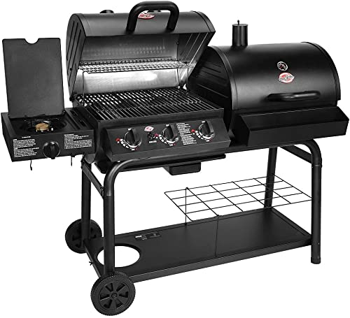 Char-Griller 5050 3 Burner Duo Gas and Charcoal Grill Dual Function