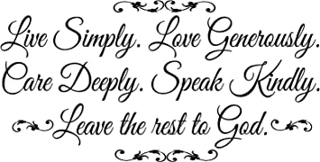 Quote It Live Simply Leave The Rest To God Wall Decals Quotes