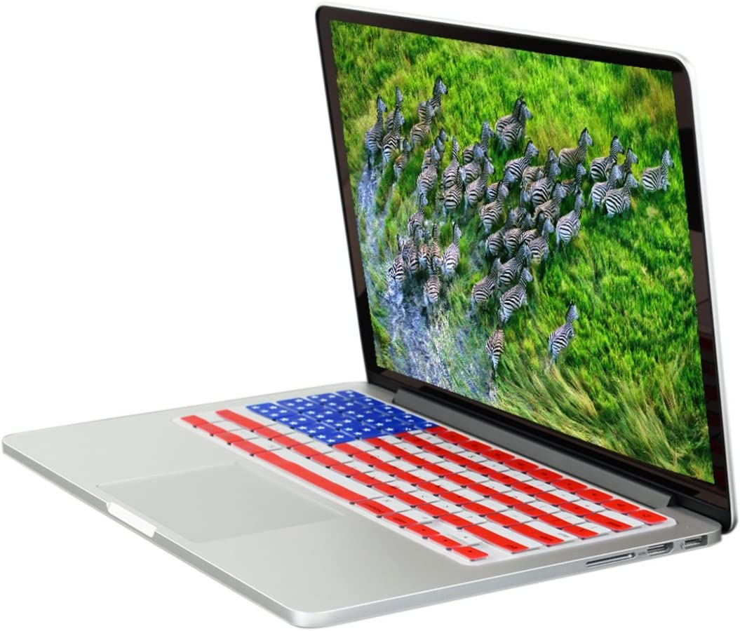 TOP CASE Brilliant Light Ultra Thin Silicone Keyboard Cover Compatible with MacBook 13 Unibody//Old Generation MacBook Pro 13 15 17// MacBook Air 13//Wireless Keyboard