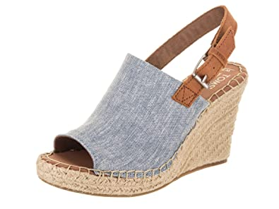 3844d5e289 Image Unavailable. Image not available for. Color: TOMS Women's Monica Blue  Chambray/Leather ...