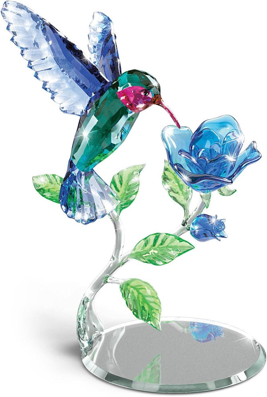 The Bradford Exchange Nature's Delicate Dance Crystal Hummingbird Sculpture