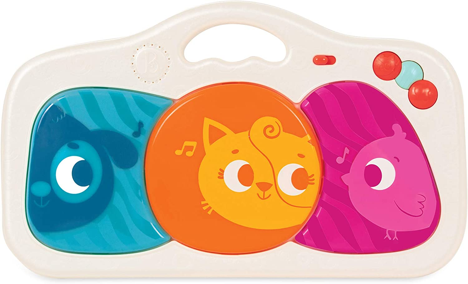6 Months + Music /& Lights B 6 Songs /& Animal Sounds Portable Party Pad for Babies Musical Baby Toy 3 Music Modes Kick and Play toys BX1737C6Z Toddlers Press
