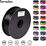 Pxmalion ABS 3D Filament, Black, 1.75mm, Accuracy +/- 0.03mm, Net Weight 1KG(2.2LB), Compatible with most 3D Printer & 3D Printing Pen
