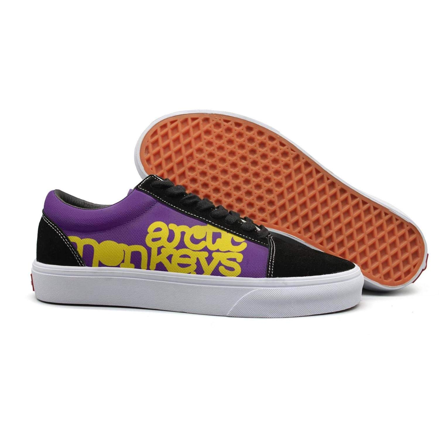 Attractive Women Flat Shoes for Womens Budge Leather Skidproof Arctic-Monkeys-Logo-Font Shoe