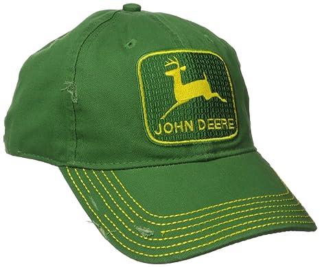 2c7fa28eaf5 John Deere Embroidered Logo Vintage Baseball Hat - One-Size - Men s Green