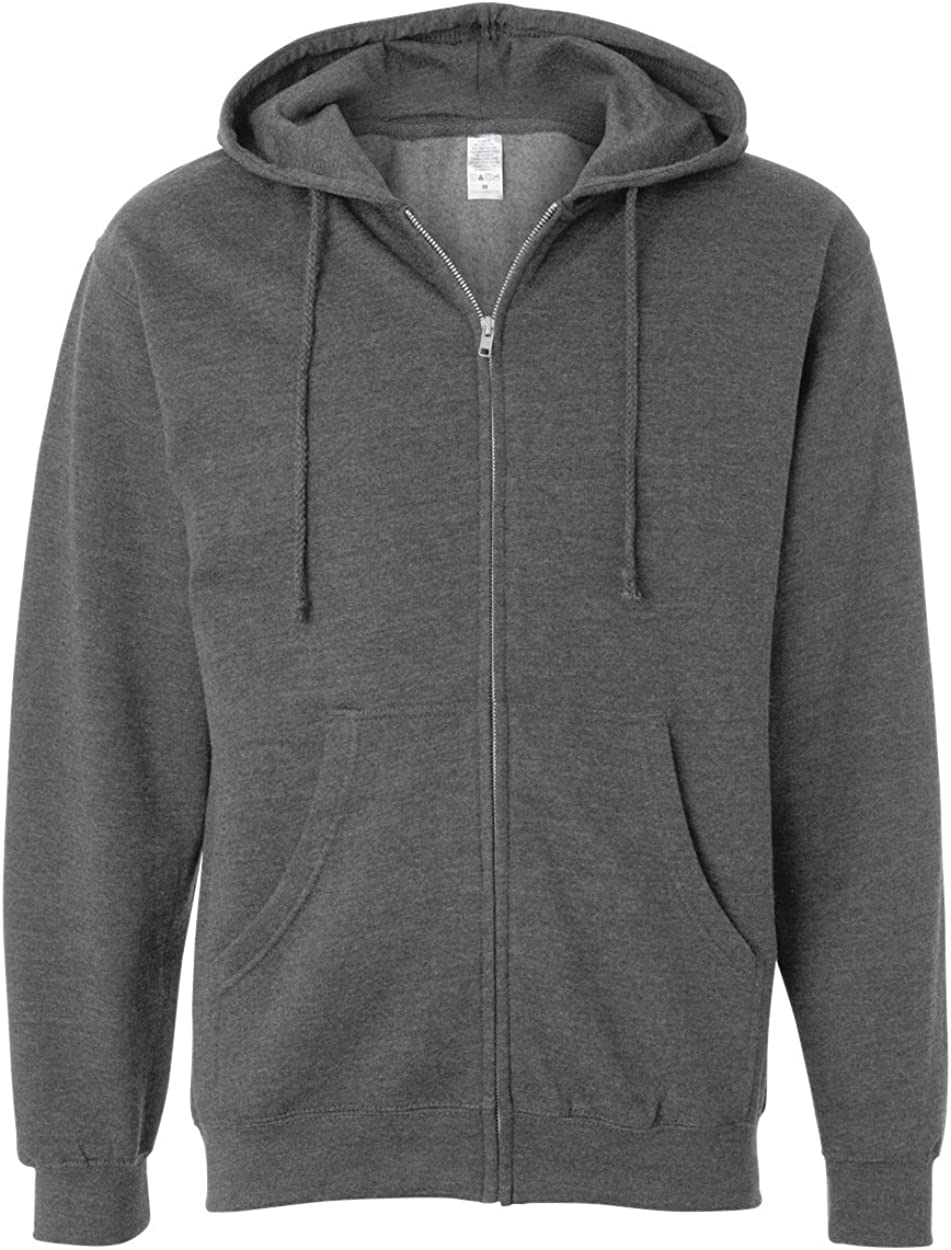 SS4500Z Mens Midweight Full-Zip Hooded Sweatshirt Independent Trading Co