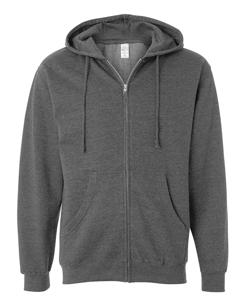 SS4500Z 2X-Large Gunmetal Heather Mens Midweight Full-Zip Hooded Sweatshirt Independent Trading Co