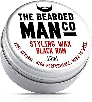 The Bearded Man Company cera para bigote con aroma a ron ...