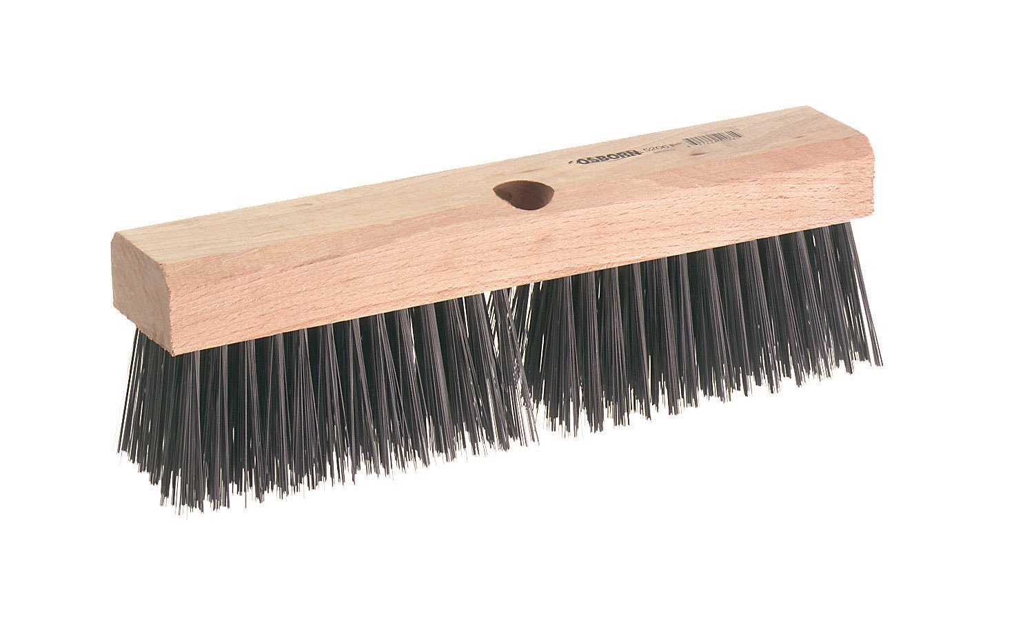 Osborn 52060SP Block Style Wire Broom Head, Heavy Duty Scrubbing and Sweeping, Cold Drawn Wire Fill Material, 4 Rows, 12'' Block Head Length, 2-3/8'' Block Width, 5'' Trim Length, 11'' x 2'' Brush Face