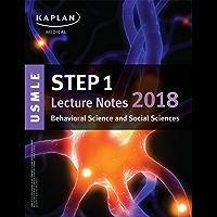 USMLE Step 1 Lecture Notes 2018: Behavioral Science and Social Sciences (Kaplan Test Prep)