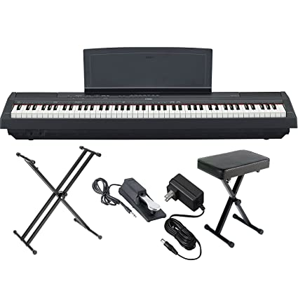 Yamaha P125B 88 Key Weighted Action Digital Piano With Sustain Pedal, Power  Supply,