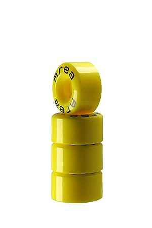 Juego 4 Ruedas para patines Quad Póster My Area, amarillo: Amazon.es: Deportes y aire libre