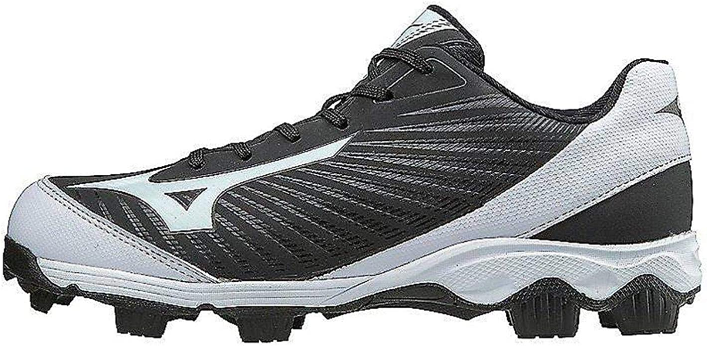 Mizuno 9-Spike Advanced Finch Franchise 7 Womens Fastpitch Softball Cleat Shoe, Black/White, 8 B US