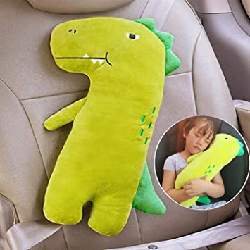 Safety Belt Protector Cushion for Kids Animal Travel Pillow Unicorn Seat Belt Cover Grey Vehicle Shoulder Pads Unicorn Seat Belt Pillow Kids