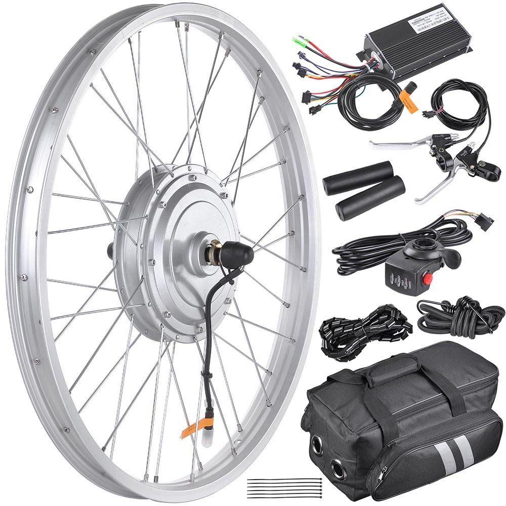 Aw 205 Electric Bicycle Front Wheel Frame Kit For 24 The Trike Shop Wiring Diagram 36v 750w 195 25 Tire E Bike Sports Outdoors