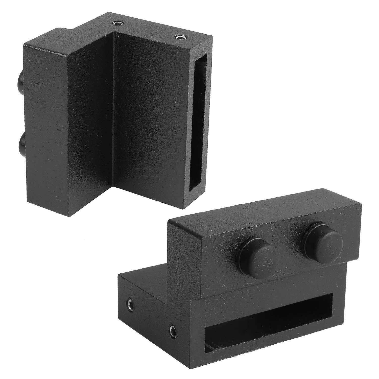 6.6FT Modern Sliding Barn Wood Door Hardware Closet Set for Single Wooden Door Black Femor 6FT 6.6FT //2000mm