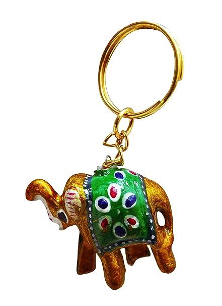 Peegli Indische Handgemachte Hängende Schlüsselkette Elefant Schöne