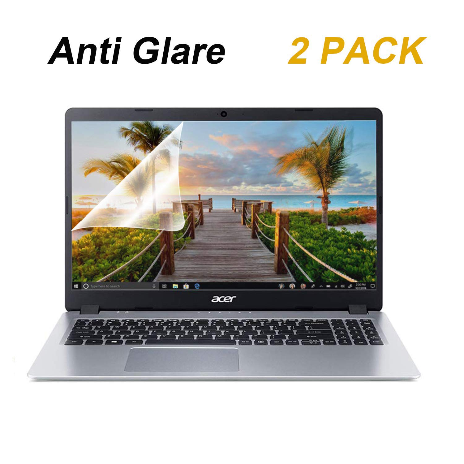 2-Pack FORITO 15.6 Inch Laptop Anti Glare(Matte) Screen Protector Cover for All 15.6 inch 16:9 Aspect Ratio Screen Laptop, Scratch Proof, Dust-Proof and Fingerprint Resistant