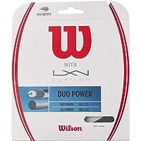 Wilson Duo Power ALU P 125 & NXT P 16 - Cuerda de Tenis, Natural, Calibre 16