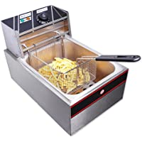 ReaseJoy Commercial Electric Countertop Stainless Steel Single Tank Deep Fryer Restaurant