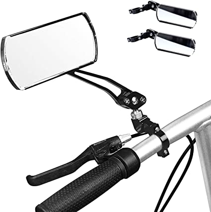 Universal  Rotate Bike Bicycle Cycling 360° Handlebar Glass Rearview MirrorS1