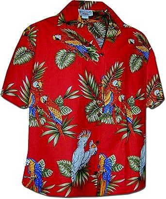 766bc7fd Pacific Legend Womens Parrots Hawaiian Shirt at Amazon Women's ...