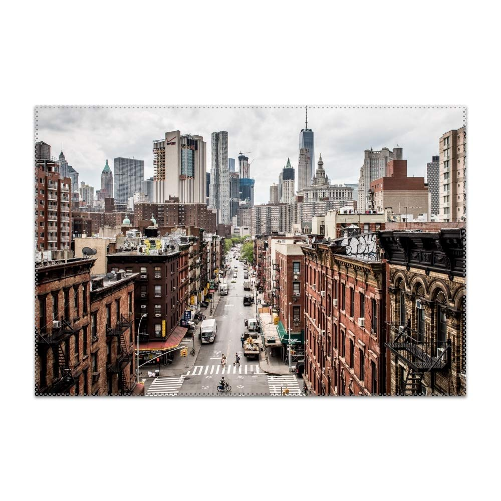 Trongr USA Manhattan City Placemat Heat-Resistant Washable Place Mats for Kitchen Dining Table Decoration