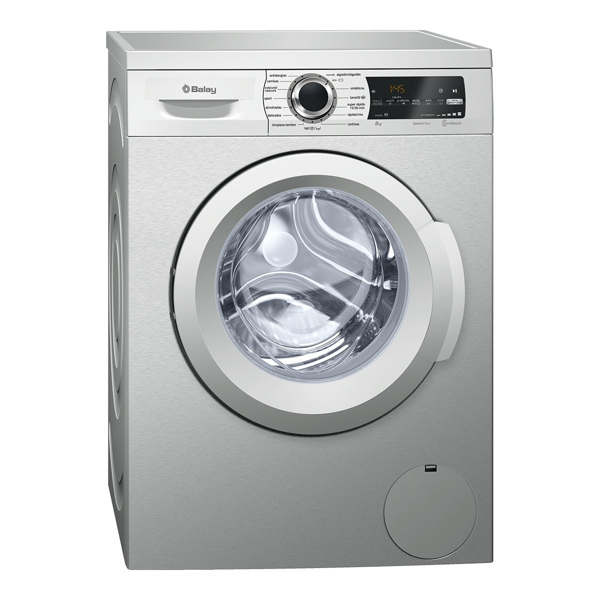Balay 3TS984XT Independiente Carga frontal 8kg 1000RPM A+++ Acero ...