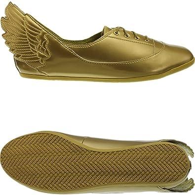 adidas JS Wings Easy Five Gold Mi D65208 Damen Sneaker/Freizeitschuhe/Ballerinas Gold (38 Gold)