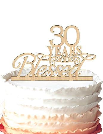 30 Jahre Blessed Kuchendekoration 30 Geburtstag Kuchen Topper 30