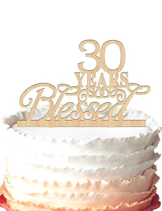 30 años Bendecido Tarta Decoración para Tarta para 30 ...