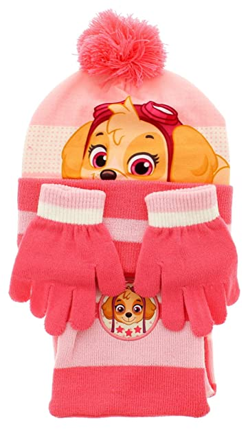 e5552f5ce6b Hat Scarf and Glove Set Kids Winter Accessories for Girls and Boys Paw  Patrol Marvel Avengers