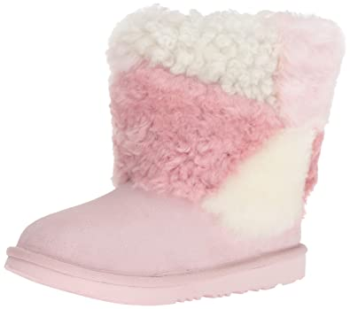 77265891be0 Amazon.com: UGG Kids' K Classic Short Patchwork Fluff Fashion Boot ...