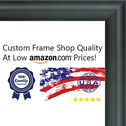 Amazon.com - 11.7x16.5 Contemporary Black Wood Picture Frame - UV ...