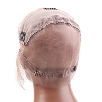 afc7dd14331 Amazon.com  Bella Hair Glueless Full Lace Wig Cap for Making Wigs with  Adjustable Straps and Combs (Large Size Cap)  Beauty