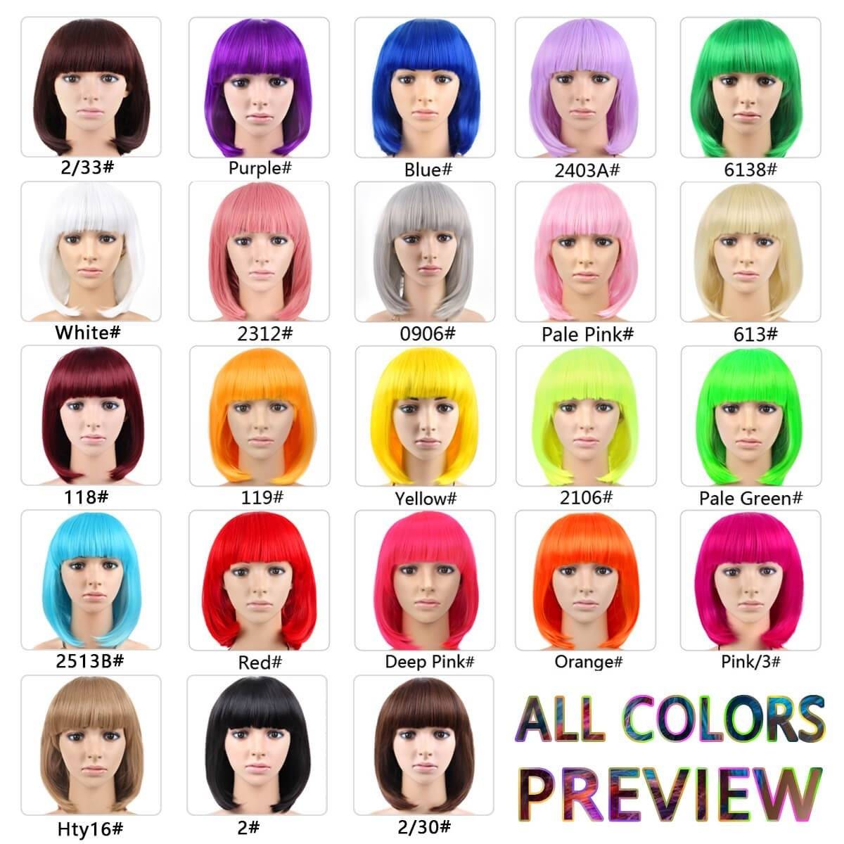 Amazon.com : Cheap Short Bob Wig Purple Color With Bangs for Women Full Head Colorful Cosplay Daily Party Anime Best Synthetic Wigs Straight Real Fiber Wig ...