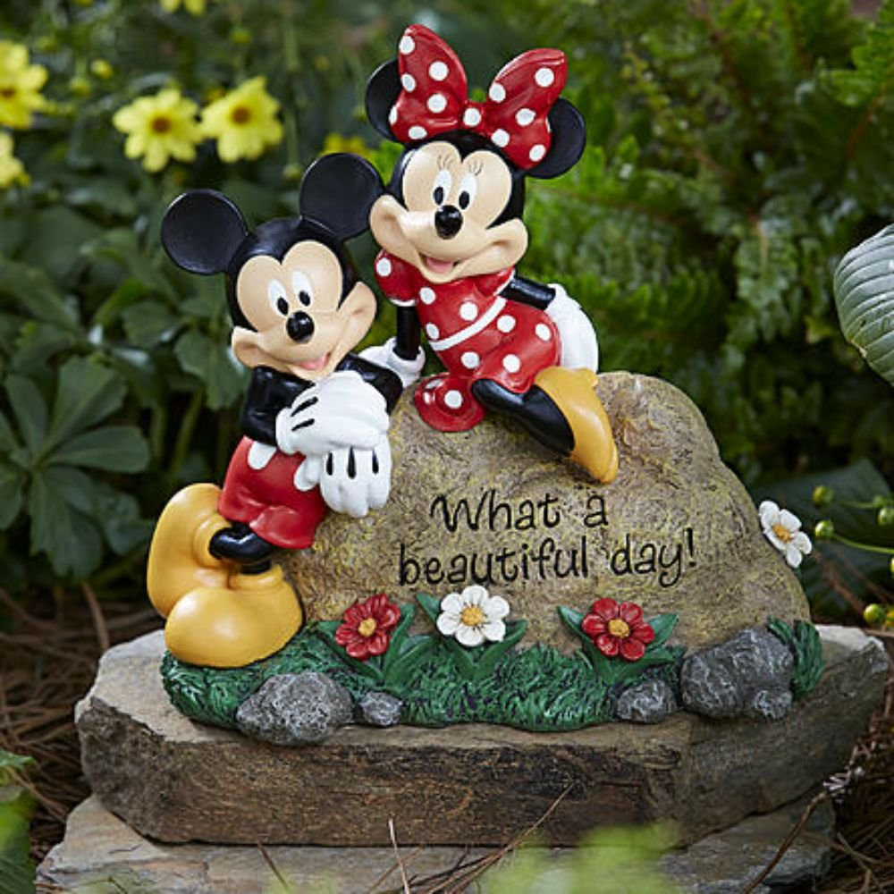 Mickey and Minnie garden stone gives any landscape character