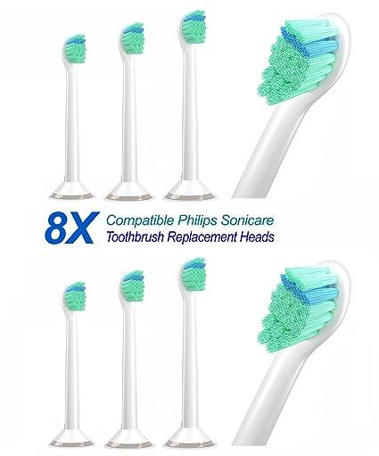 (2x4) PHX6024 Mini de cabezales para cepillos de dientes Carolina Meyer