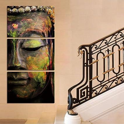 Amazon.com: Shuaxin Modern Photo Buddha Wall Art Print on Canvas ...