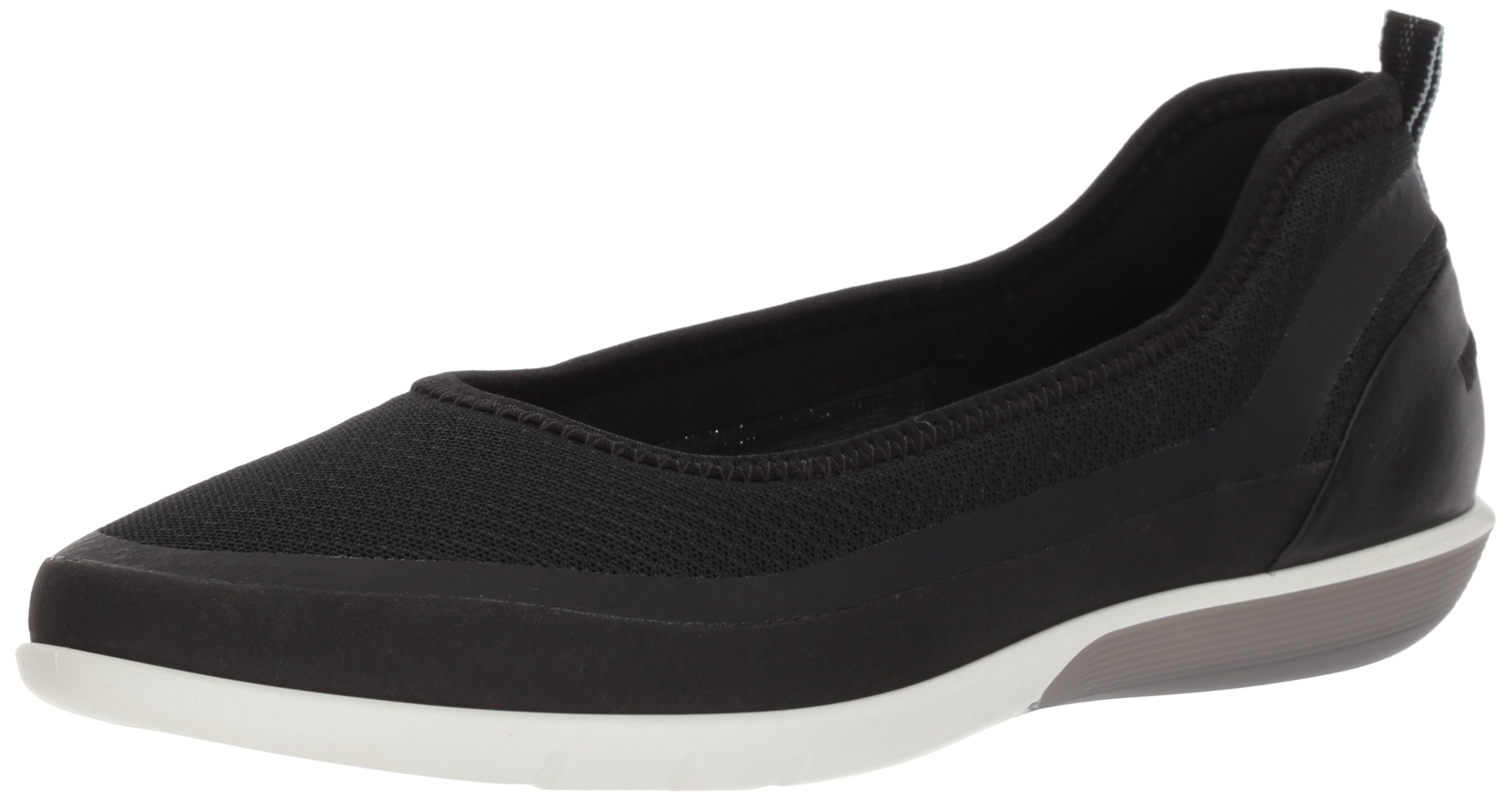 ECCO Women's Sense Light Ballerina Ballet Flat, Black/Black, 38 Medium EU (7-7.5 US)