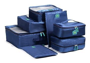 MonTrüe, Set de 7 Organizadores multifuncionales para Maletas de Viaje, Azul: Amazon.es: Equipaje