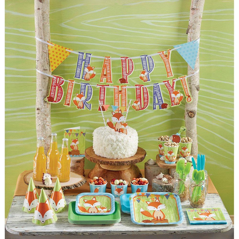 Décoration de table 3 pièces *Petit renard* Forêt avec hérissons Pour  anniversaire d\u0027enfant et fête à thème Amazon.fr Jeux et Jouets