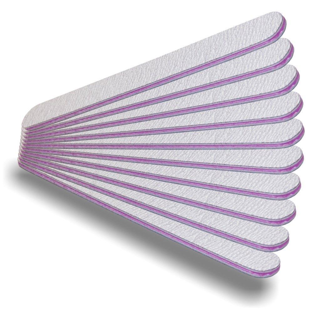 NAILFUN 10 Straight Zebra Nail Files - Grit 180/240 NAILFUN ®