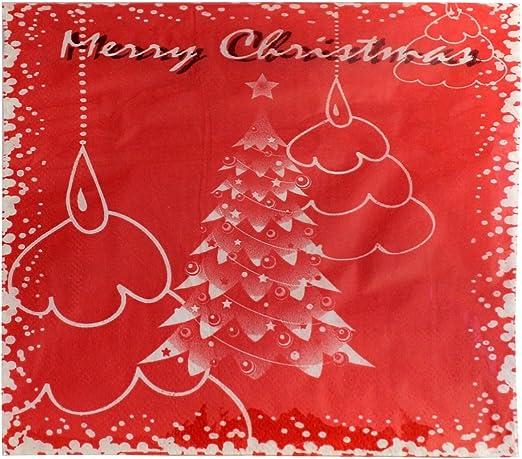 Fantastiko Christmas Pack de 20 servilletas de Papel Rojas para ...