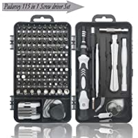 Padarsey Precision Screwdriver Set 112 in 1 Repair Tools Kit with Magnetic Driver Kit,Electronics Precision Screwdriver Set with Portable Bag for Repair Computer, Cell Phone, PC, iPhone,Lap Black
